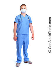 Doctor in mask.