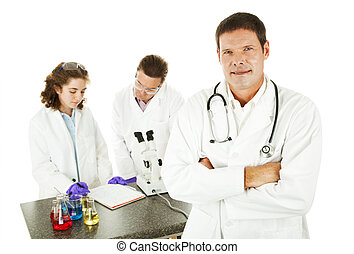 Doctor in Medical Lab