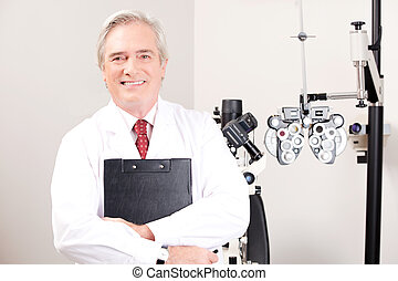 Doctor in Ophthalmology Clinic - Portrait of doctor in...