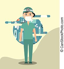 doctor in surgeon uniform medical hospital work