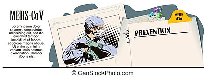 Doctor in surgical mask. Vector illustration.