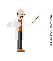 Doctor in white coat vector icon