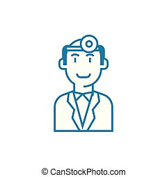 Doctor linear icon concept. Doctor line vector sign, symbol, illustration.