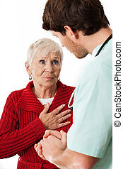 Doctor listening a patient