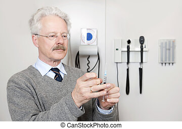 doctor, listo, dar, vacunación