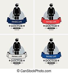 Doctor logo design.