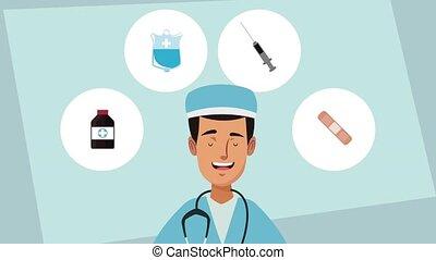 Doctor medical cartoons HD animation