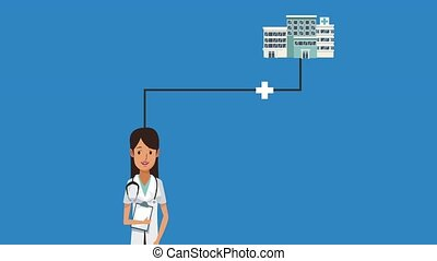Doctor medical cartoons HD animation