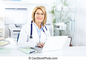 Doctor - Medical doctor woman in the office