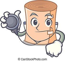 Doctor medical gauze character cartoon