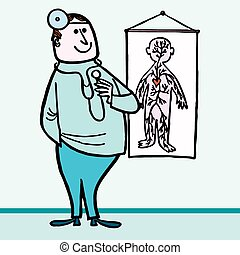 Doctor medical - Happy Doctor medical hospital cartoon...