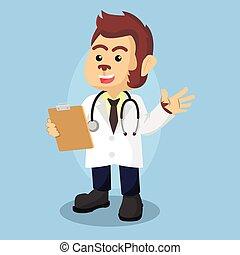 doctor monkey illustration design