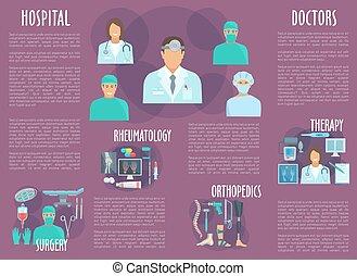 Doctor, nurse brochure for healthcare personnel