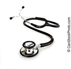 stethoscope on white