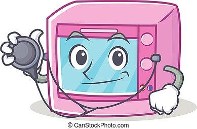 Doctor oven microwave character cartoon