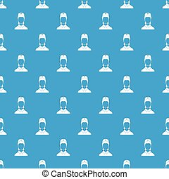 Doctor pattern seamless blue