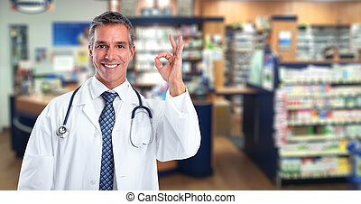 Doctor pharmacist man.