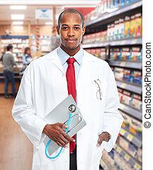 Doctor pharmacist man. - Medical doctor pharmacist man over...