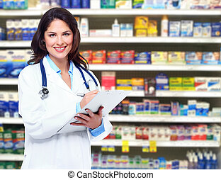 Doctor pharmacist woman.