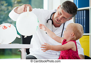 Doctor play with child