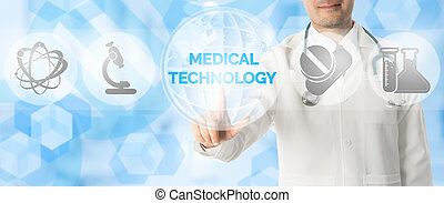 Doctor Points at MEDICAL TECHNOLOGY, Medical Icon