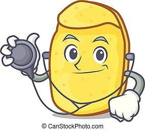 Doctor potato chips character cartoon