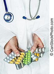 doctor prescribes a medication