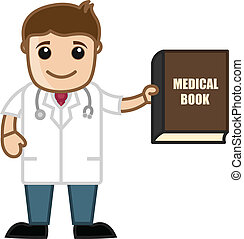 Doctor Presenting Medical Book