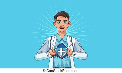 doctor professional character health animation