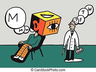 doctor psychiatrist and patient vector illustration , design...