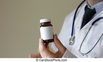 Doctor recommending vitamin c - Shot of Doctor recommending...