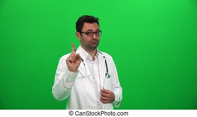 Doctor Shaking His Finger, Warning About A Bad Habit