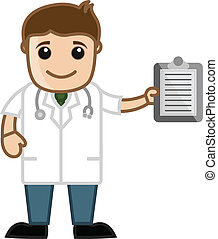 Doctor Showing Medical Report