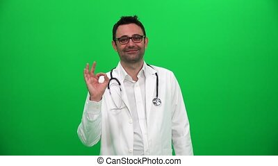Doctor Showing OK Sign