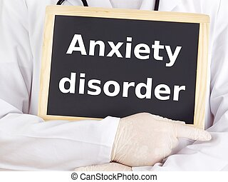 Doctor shows information: anxiety disorder