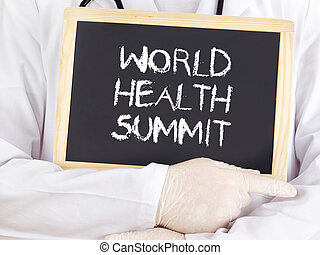 Doctor shows information: World Health Summit