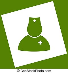 Doctor sign illustration. Vector. White icon obtained as a...