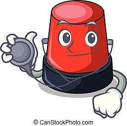 Doctor sirine character cartoon style
