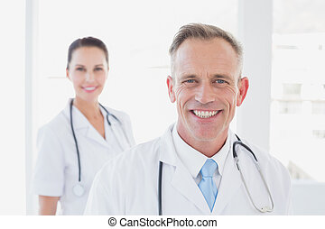 Doctor smiling at the camera