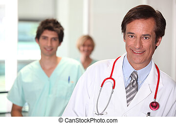 Doctor smiling.
