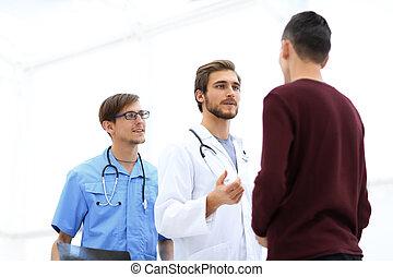 doctor talking with the patient