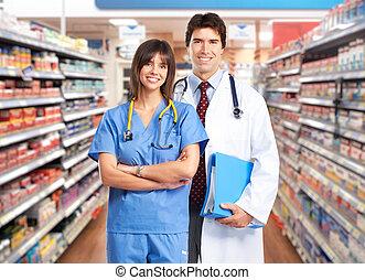 Doctor team pharmacist woman. - Medical doctor team...