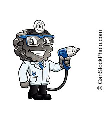doctor tire cartoon.