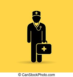 Doctor uniform icon