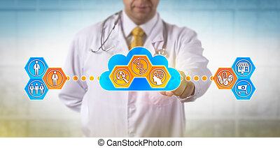 Doctor Using Cloud Based Software For DNA Test -...