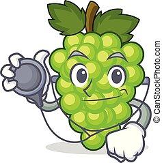 doctor, uvas verdes, carácter, caricatura