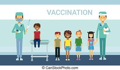 Doctor Vaccination Of Children Illness Prevention...