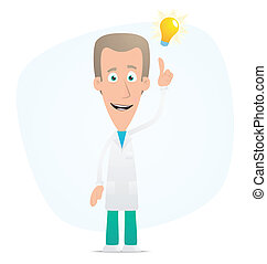 doctor visited idea - Illustration of a cartoon cute...