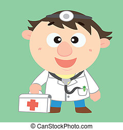 doctor with a first aid kit