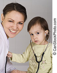 doctor with a nice child